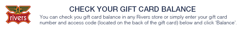 Rivers Gift Card Balance Enquiry